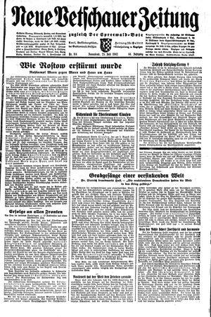 Neue Vetschauer Zeitung vom 25.07.1942