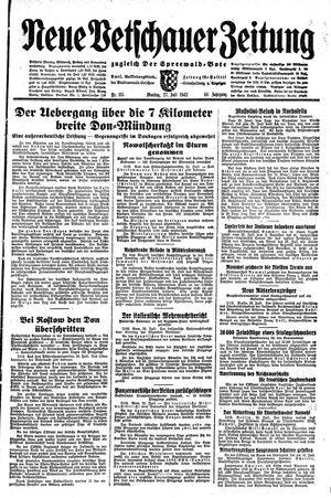 Neue Vetschauer Zeitung vom 27.07.1942