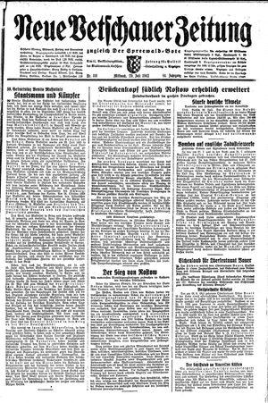Neue Vetschauer Zeitung vom 29.07.1942