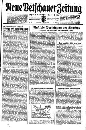 Neue Vetschauer Zeitung vom 01.08.1942