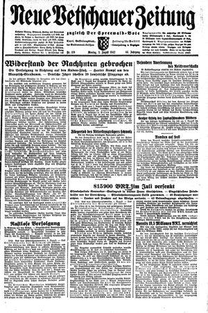 Neue Vetschauer Zeitung vom 03.08.1942