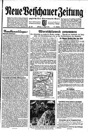 Neue Vetschauer Zeitung vom 05.08.1942