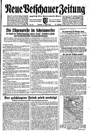 Neue Vetschauer Zeitung vom 08.08.1942