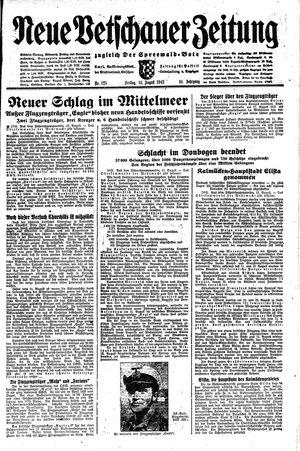 Neue Vetschauer Zeitung vom 14.08.1942