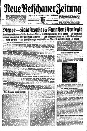 Neue Vetschauer Zeitung vom 21.08.1942