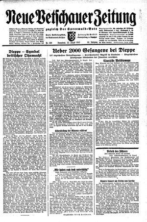 Neue Vetschauer Zeitung vom 22.08.1942
