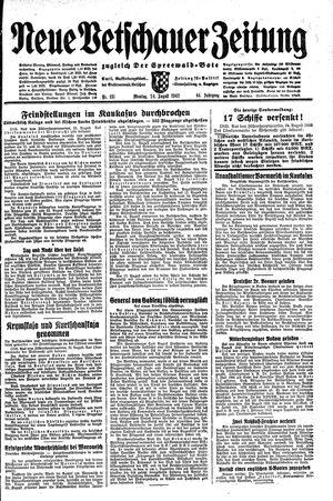 Neue Vetschauer Zeitung on Aug 24, 1942