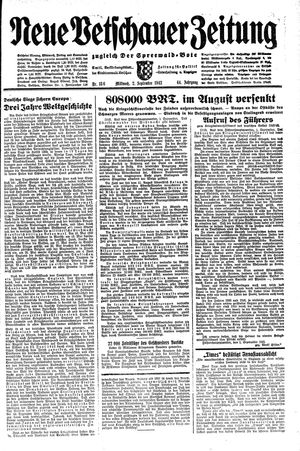 Neue Vetschauer Zeitung vom 02.09.1942