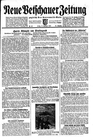 Neue Vetschauer Zeitung vom 11.09.1942