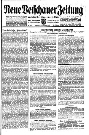 Neue Vetschauer Zeitung on Sep 12, 1942