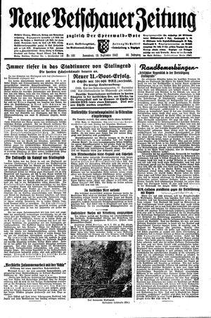 Neue Vetschauer Zeitung vom 19.09.1942
