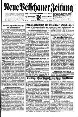 Neue Vetschauer Zeitung vom 21.09.1942