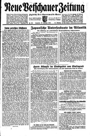 Neue Vetschauer Zeitung vom 26.09.1942