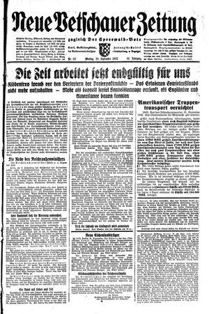 Neue Vetschauer Zeitung vom 28.09.1942