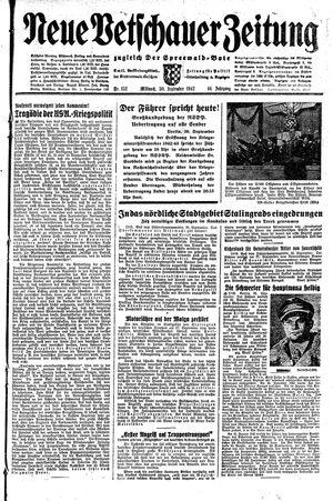 Neue Vetschauer Zeitung vom 30.09.1942