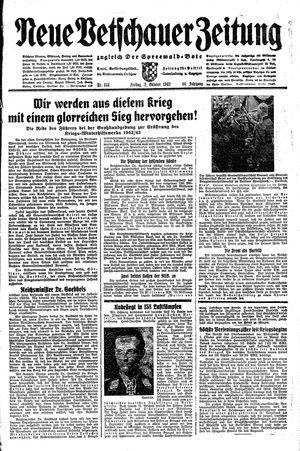 Neue Vetschauer Zeitung vom 02.10.1942