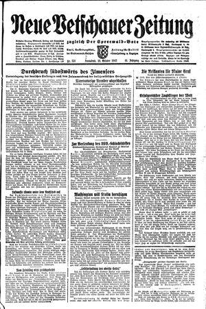 Neue Vetschauer Zeitung vom 10.10.1942