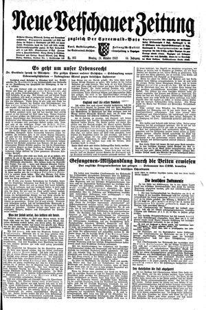 Neue Vetschauer Zeitung vom 19.10.1942
