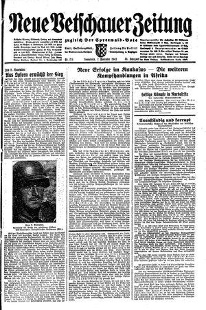 Neue Vetschauer Zeitung vom 07.11.1942