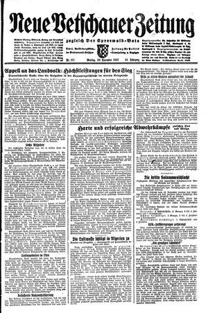 Neue Vetschauer Zeitung vom 30.11.1942