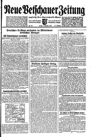 Neue Vetschauer Zeitung vom 04.12.1942