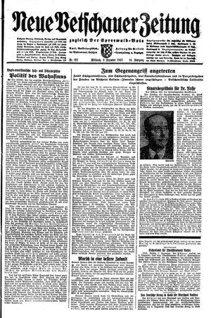 Neue Vetschauer Zeitung vom 09.12.1942