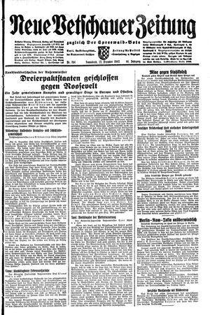 Neue Vetschauer Zeitung vom 12.12.1942