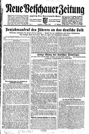 Neue Vetschauer Zeitung vom 02.01.1943
