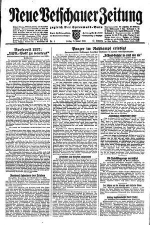 Neue Vetschauer Zeitung vom 08.01.1943
