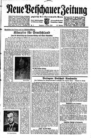 Neue Vetschauer Zeitung vom 09.01.1943