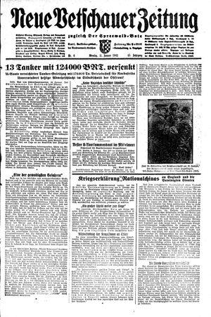 Neue Vetschauer Zeitung vom 11.01.1943