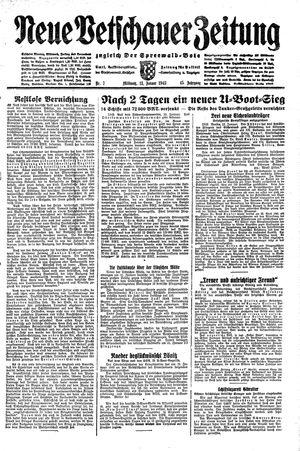 Neue Vetschauer Zeitung vom 13.01.1943