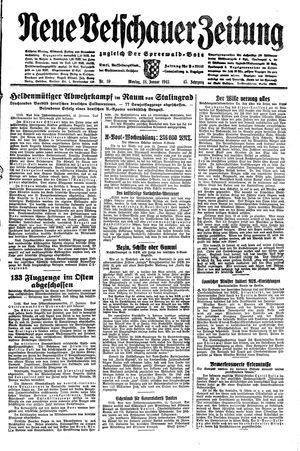 Neue Vetschauer Zeitung vom 18.01.1943