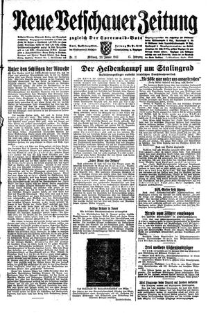 Neue Vetschauer Zeitung vom 20.01.1943