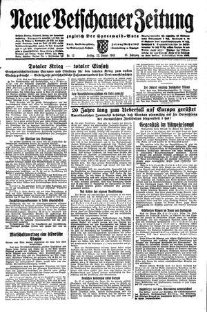 Neue Vetschauer Zeitung vom 22.01.1943