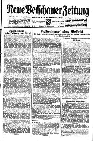 Neue Vetschauer Zeitung vom 23.01.1943