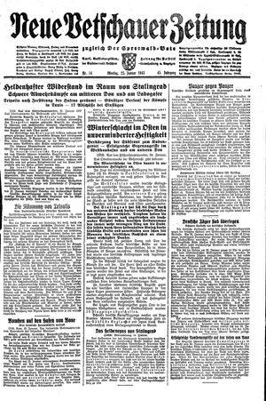 Neue Vetschauer Zeitung vom 25.01.1943