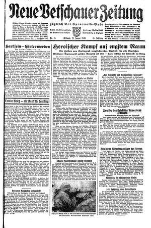Neue Vetschauer Zeitung vom 27.01.1943