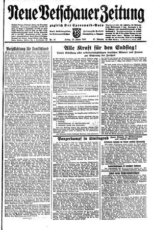 Neue Vetschauer Zeitung vom 29.01.1943