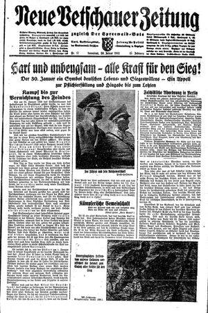 Neue Vetschauer Zeitung vom 30.01.1943