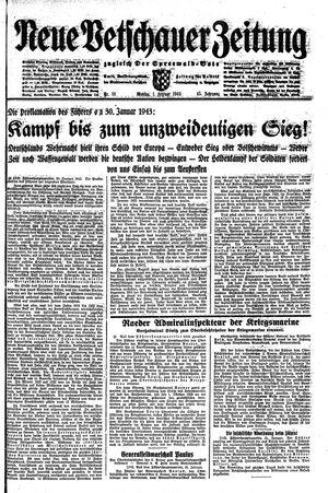 Neue Vetschauer Zeitung vom 01.02.1943