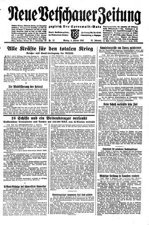 Neue Vetschauer Zeitung vom 08.02.1943