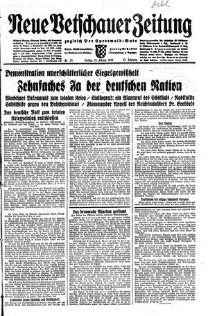 Neue Vetschauer Zeitung vom 19.02.1943