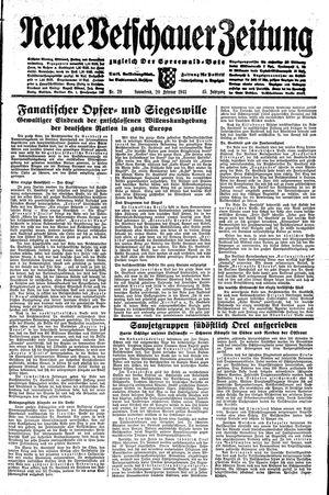 Neue Vetschauer Zeitung vom 20.02.1943