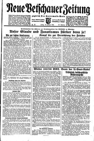 Neue Vetschauer Zeitung vom 26.02.1943