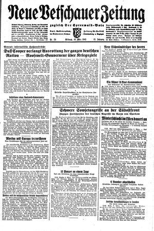 Neue Vetschauer Zeitung vom 10.03.1943