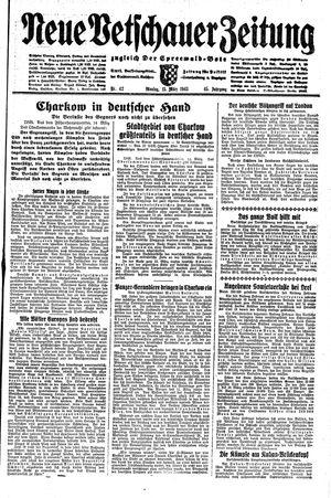 Neue Vetschauer Zeitung vom 15.03.1943