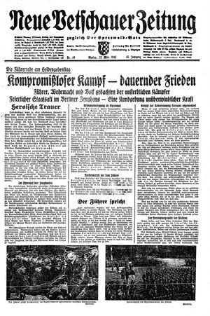 Neue Vetschauer Zeitung vom 22.03.1943