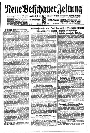Neue Vetschauer Zeitung vom 24.03.1943