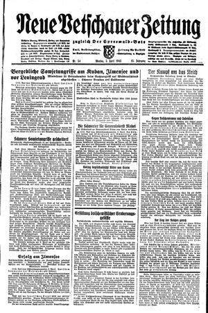 Neue Vetschauer Zeitung vom 05.04.1943